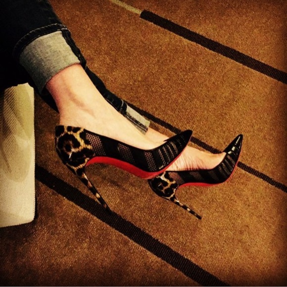 louboutin animal print heels
